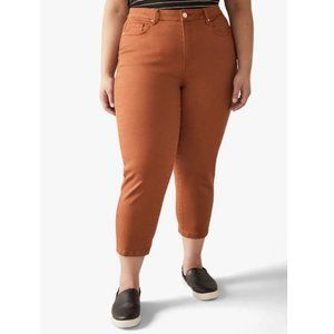 ADDITION ELLE Jessie Cropped Jeans in Burnt Orange